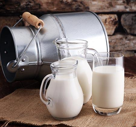 Vente de lait cru et de lait battu à Douai